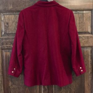 Pendleton Jackets & Coats - Pendleton merlot color blazer jacket petite 12